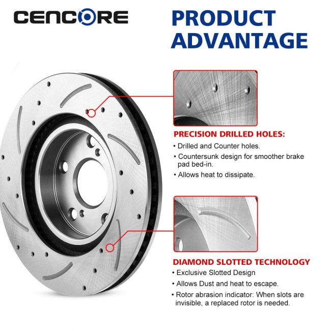 Front Brake Calipers And Rotors Pads For Lexus ES300H ES350 Toyota Avalon Camry