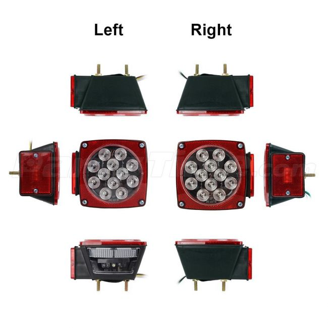 Assembly Clear lens Red Stop Turn Tail Trailer Truck LED Light kit Marker