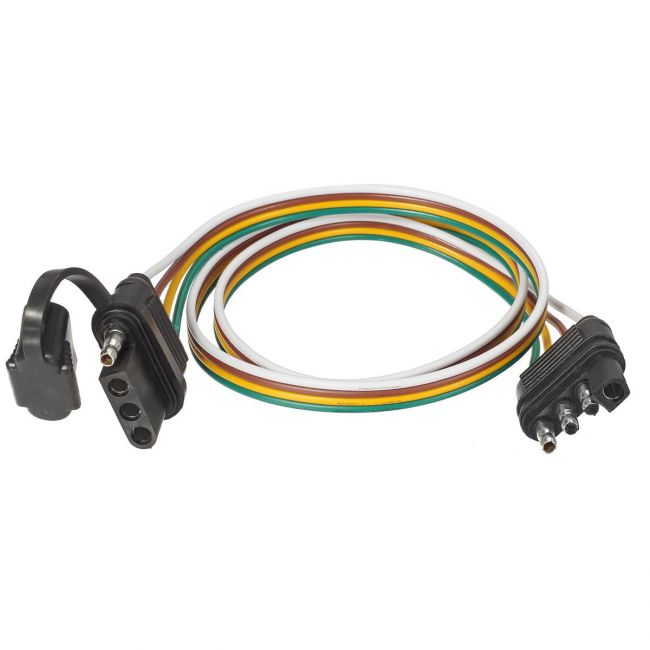Partsam Trailer Wire Extension Plug  4 Pin Hitch Light